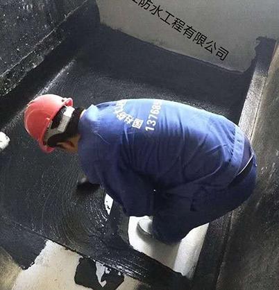 卫生间防水施工现场