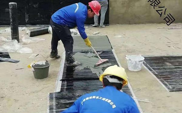 屋顶防水卷材施工